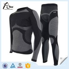 Sous-vêtements sans couture thermique de couche de base des hommes