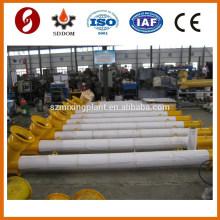 China supplier powder screw conveyor ,219*9m wam sprial conveyor for cement silo
