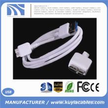 Premium Quality White 3ft 1m USB 3.0 Un mâle à Micro B Câble mâle Haute vitesse