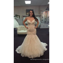 Real Bride Fit and Flare Trendy Wedding Gown