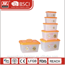 conteneur de stockage en plastique w/roues 4.8L/8.5L/15L/25L/43L