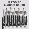 12 Stück Zodiac Metal Makeup Brushes Set