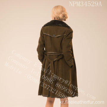 가역 호주 Merino Shearling Coat For Women