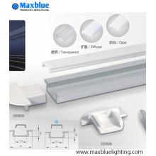 Profilé en aluminium encastré en aluminium avec couverture givrée