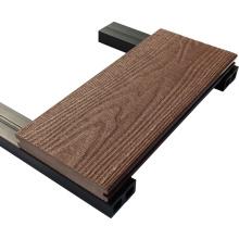 Panneau composé de terrasse en bambou de plancher extérieur gris bleu creux