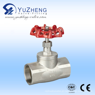 Válvula de globo de aço inoxidável com porca de roda de mão