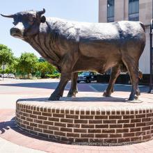 открытый сад украшения известных металл арт металл ремесло бросания бронзовая скульптура быка