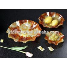 Kunststoff Obst- und Süßwaren Tabletthalter aus hochwertigem Acrylmaterial