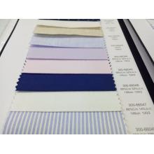 Plain blend 68% cotton 32%silk shirt fabric for tailoring