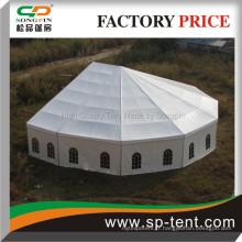 Aspe En forme de grandes tentes pour les événements, une tente de fête à bas prix avec la moitié de Decagon End Deck