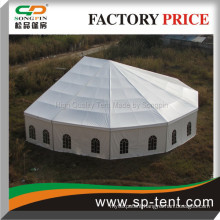 Aspe Shaped big tents for events cheap party tent with half Decagon end Deck