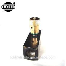 Válvula de aguja de control de flujo hidráulico de acero variable de la serie KC