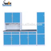Steelart venda quente novo modelo de armário de cozinha moderna de aço armário de cozinha armário de cozinha