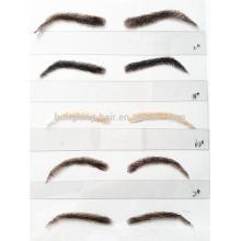 high quality false human hair eyebrow fake eyebrow lace eyebrow for sale