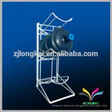 Fácil de montar metal Pantalla de pie de pie 5 galones titular Botella de agua Almacenamiento Rack