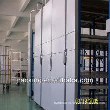 Venta caliente nanjing jracking almacén metal estante sistemas de almacenamiento de estantería de acrílico estante de exhibición del teléfono móvil