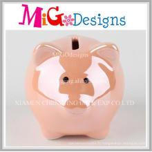 Décoration de banque de pièce de monnaie orange en céramique radiante de Migodesigns