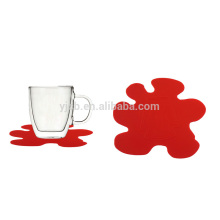 Hot sale for promotion cute shape silicone cup mat