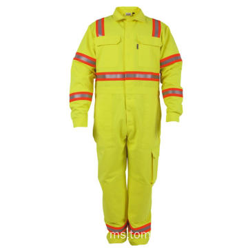 Hi Vis Safety Fr Fire Suits Menggali Coveralls