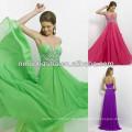 NW-453 Juwelen und Silber Perlen Drape Up Bodice Abendkleid Prom Gown 2014