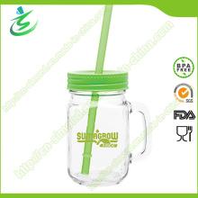 16 Oz Cold Drink Glass Mason Jar with Handle