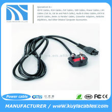 3-Prong AC Câble d'alimentation britannique Câble adaptateur 3Pin pour ordinateur portable