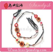 Meilleure vente à la main Fashion perlé fleur bijoux ceintures