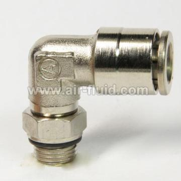 Swivel 90° Degree Parallel Male Elbow Metal Push-in-Fittings