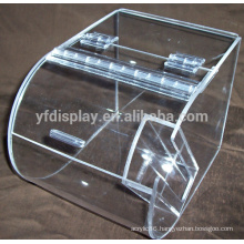 cheap clear acrylic candy an bread box with hinged lip