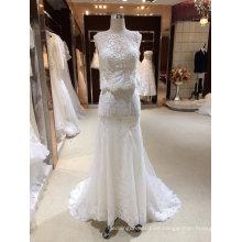 Sirena trompeta de vestido de boda blanco