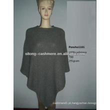 2015 nova moda 100% puro tricô Cashmere PONCHO para mulheres