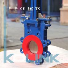 Tipo Wafer Válvula de Porta de Faca com Cone de Deflexão de Poliuretano