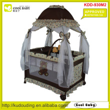 ASTM F406-12A Approved Baby Playpen with Mosquito Net Mongolian Style