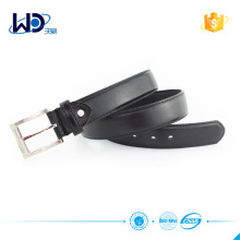 shiny sliver buckle pu belt for men