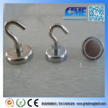 High Pull Force Stahl N35 Topf Magnet mit Haken Auge