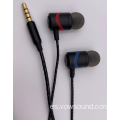 Sport In Ear Earphone Auricular con cable de metal