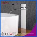 Fyeer alta corpo simples cachoeira lavatório torneira torneira misturadora de água