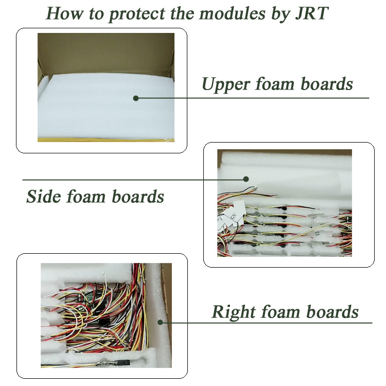JRT foam boards protection for shipping