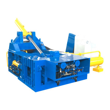 Máquina enfardadeira de recirculação de aço para resíduos de metal lateral