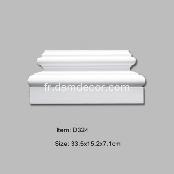 Base Pilaster Décorative PU