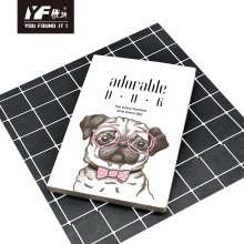 Entzückendes Notizbuch des Softcover-Klebers im Hundestil