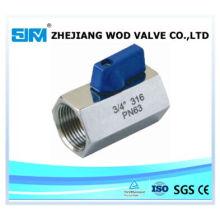 Stainless Steel 316 Mini 1PC Ball Valve (valvula)