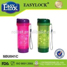 bouteille d'eau en plastique à double paroi / bouteille de sport / pot de thé / bouteille