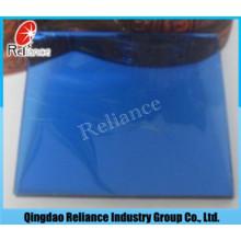 6mm dunkelblaues reflektierendes Glas mit ISO