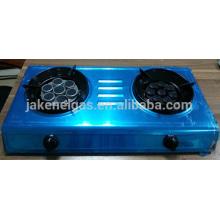 cuisinière à gaz tabel infrarouge à double brûleur en acier inoxydable, cuisinière à gaz