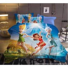 Indian Hot Selling Printed 120GSM 3D Print Cartoon Bedsheet Comforter Set