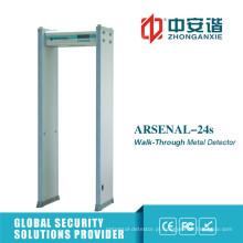 Portão detector de metais em modo infravermelho de 18 zonas para segurança bancária