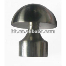 Fashional electroplating/painting metal curtain pole end/nice curtain rod finials/ popular curtain end cap