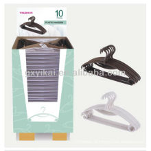 Conjunto de 10pcs gancho de plástico promocional embalado com caixa de exibição