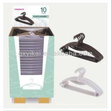 Набор из 10шт рекламных пластиковых вешалка упакованы с картонной витриной